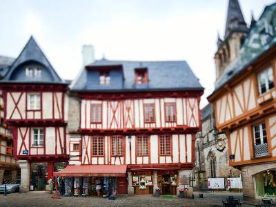 Henry Iv Square, Town of Vannes, Departament De Morbihan, Brittany, France-Felipe Rodriguez-Photographic Print