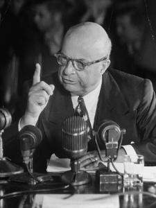 Henry J. Kaiser Testifying at the Howard Hughes Trial