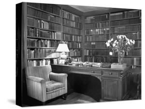 Henry James' Study with Books Lining the Walls