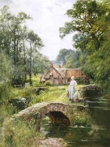 Fishing by the Bridge by Henry John Yeend King