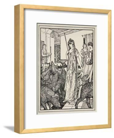 Circe Sends the Swine (The Companions of Ulysses) to the Styes, Frontispiece from 'Tales of the…