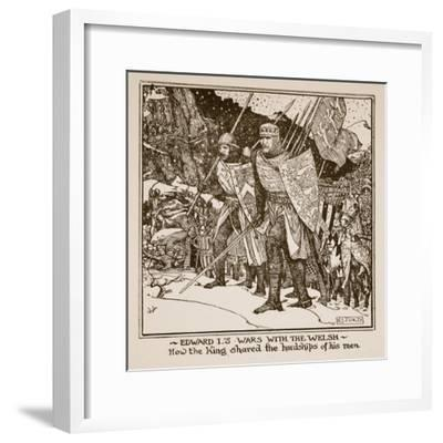 Edward I's Wars with the Welsh - How the King Shared the Hardships of His Men, Illustration from…