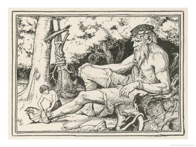 Herd-Boy Binds the Injured Foot of a Friendly Giant