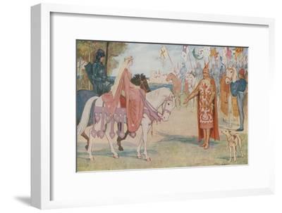 Lancelot Brings Guenevere to Arthur