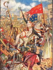 Richard the Lionheart at the Crusades, Illustration from 'A History of England' by Rudyard… by Henry Justice Ford