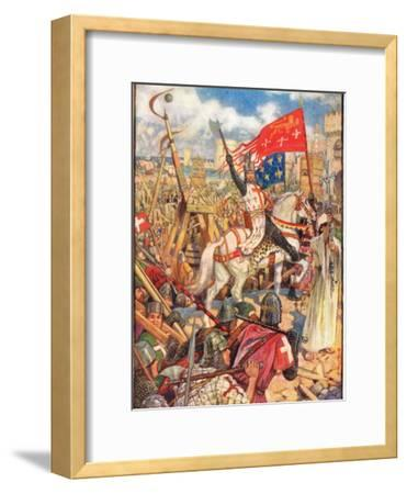 Richard the Lionheart at the Crusades, Illustration from 'A History of England' by Rudyard…