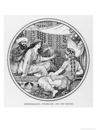 Scheherazade Dinarzade and the Sultan