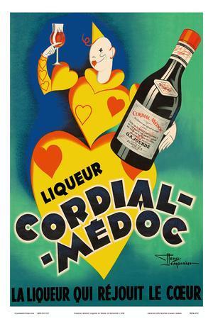 Cordial Médoc Liqueur - The Liquor Which Rejoices the Heart