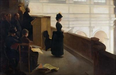 The Organ Rehearsal by Henry Lerolle