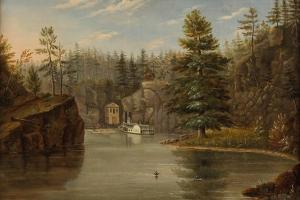 Gorge of the St. Croix, 1847 by Henry Lewis