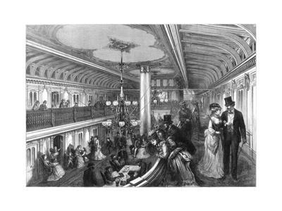 Saloon of a Steamboat, 1875