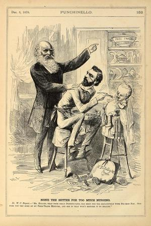 None the Better for Too Much Nursing, 1870