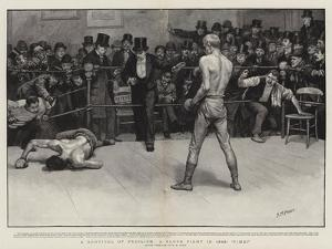 A Survival of Pugilism, a Glove Fight in 1896, Time! by Henry Marriott Paget