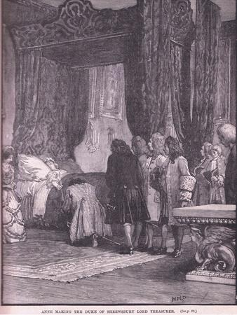 Anne Making the Duke of Shrewsbury Lord Treasurer Ad 1714