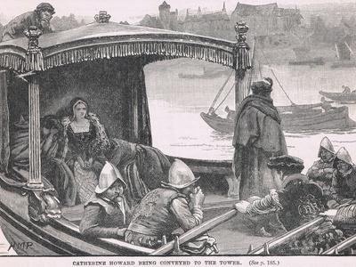 Catherine Howard Being Conveyed to the Tower 1542