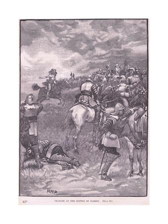 Charles at the Battle of Naseby Ad 1645