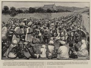 Feeding the Poor at Aurangabad, Deccan by Henry Marriott Paget