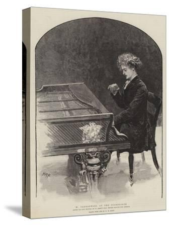 M Paderewski at the Pianoforte