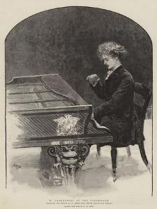 M Paderewski at the Pianoforte by Henry Marriott Paget