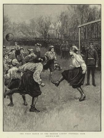 The First Match of the British Ladies' Football Club