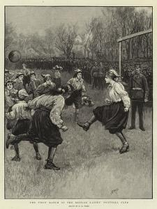The First Match of the British Ladies' Football Club by Henry Marriott Paget