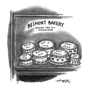 BELMONT BAKERY CAKES FOR ALL OCCASIONS - New Yorker Cartoon by Henry Martin