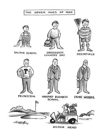 The Seven Ages Of Man - New Yorker Cartoon