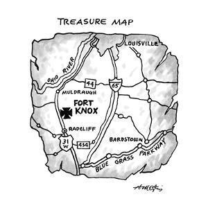 Treasure Map - New Yorker Cartoon by Henry Martin