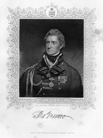 Sir Thomas Munro (1761-182), Scottish Soldier and Statesman, 19th Century