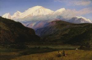 A View of Mont Blanc from Servoz, France by Henry Moore