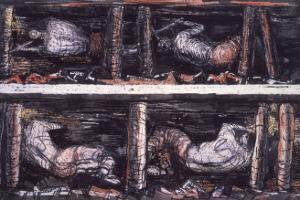 Four Studies of Miners at the Coalface, 1942 by Henry Moore
