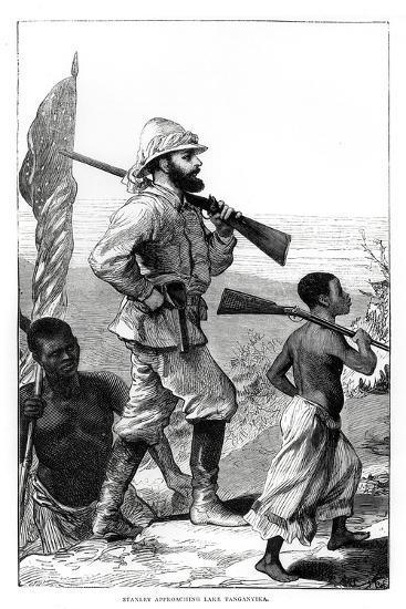 Henry Morton Stanley approaching Lake Tanganyika, 19th century-Unknown-Giclee Print