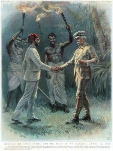 Henry Morton Stanley, Welsh Journalist and Explorer, Meeting Emin Pasha at Kavalli, 29 April 1888
