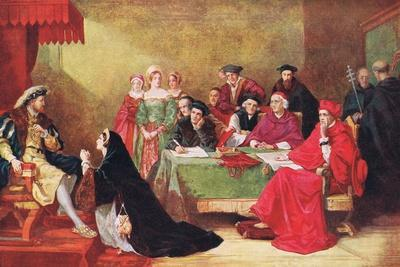 The Trial of Queen Catherine, Illustration from 'Hutchinson's History of the Nations', c.1910