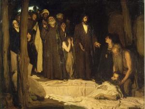 La résurrection de Lazare by Henry Ossawa Tanner