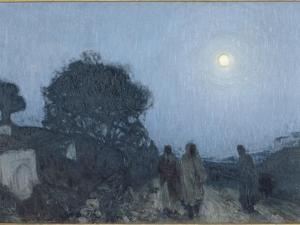 le Christ et ses disciples sur la route de Béthanie by Henry Ossawa Tanner
