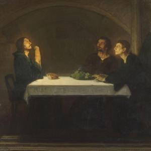 Les pèlerins d'Emmaüs by Henry Ossawa Tanner