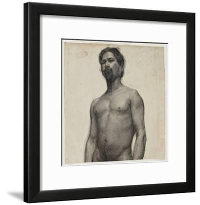 Study of a Negro Man. C.1891 (Charcoal and Pastel on Cream Laid Paper)