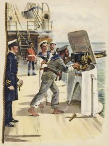 Gun Drill During the Naval Manoeuvres, 1891 by Henry Payne