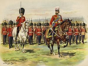 King George V as Prince of Wales Leading His Regiment, the Royal Fusiliers, at Aldershot by Henry Payne
