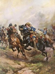 Prince Rupert's Cavalry Charge at Edgehill, 1642 by Henry Payne