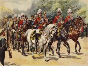 Procession of Nine Kings, Funeral of King Edward VII, 20 May 1910 by Henry Payne
