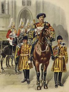 Proclaiming George V King of England, 1910 by Henry Payne