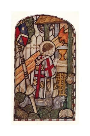 'Sir Galahad. Design for a window at Kelvin-Side, Glasgow', c1914.
