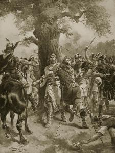 St. Edmund Slain by the Danes, 870 Ad by Henry Payne