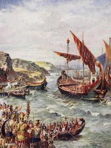 The Departure of the Romans from Britain, Illustration from 'The History of the Nation' by Henry Payne