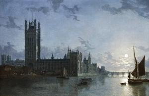 Westminster Abbey and the Houses of Parliament by Henry Pether