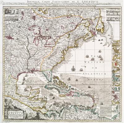 Map of British Empire 1733 by Henry Popple