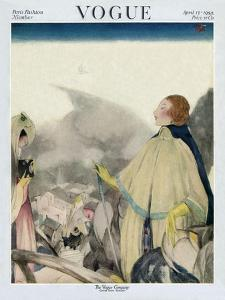 Vogue Cover - April 1922 by Henry R. Sutter