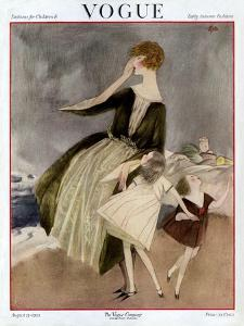 Vogue Cover - August 1922 by Henry R. Sutter